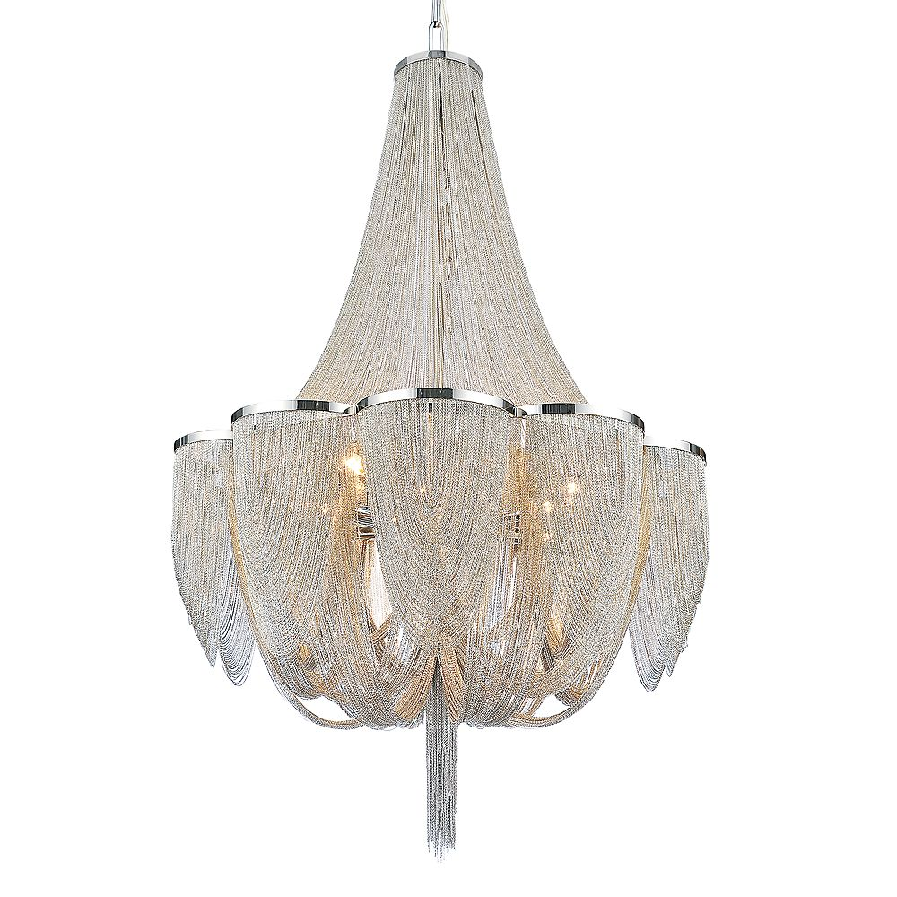 CWI Lighting Taylor 34 inch 18 Light Chandelier with Chrome Finish