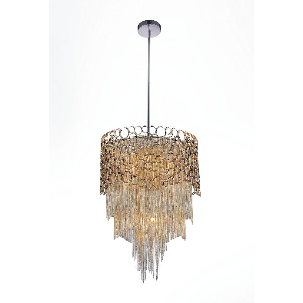 CWI Lighting Victoria 17 inch 4 Light Chandelier with Chrome Finish