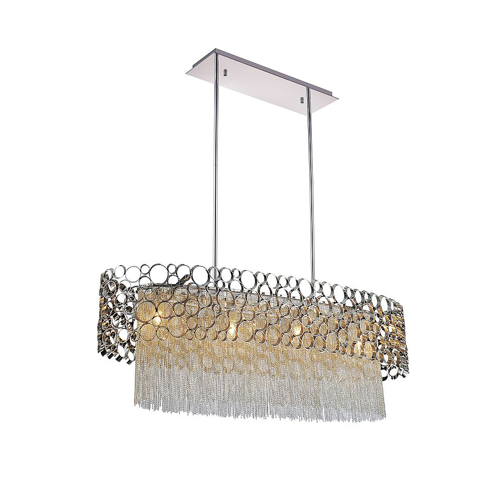CWI Lighting Victoria 32 inch 4 Light Chandelier with Chrome Finish