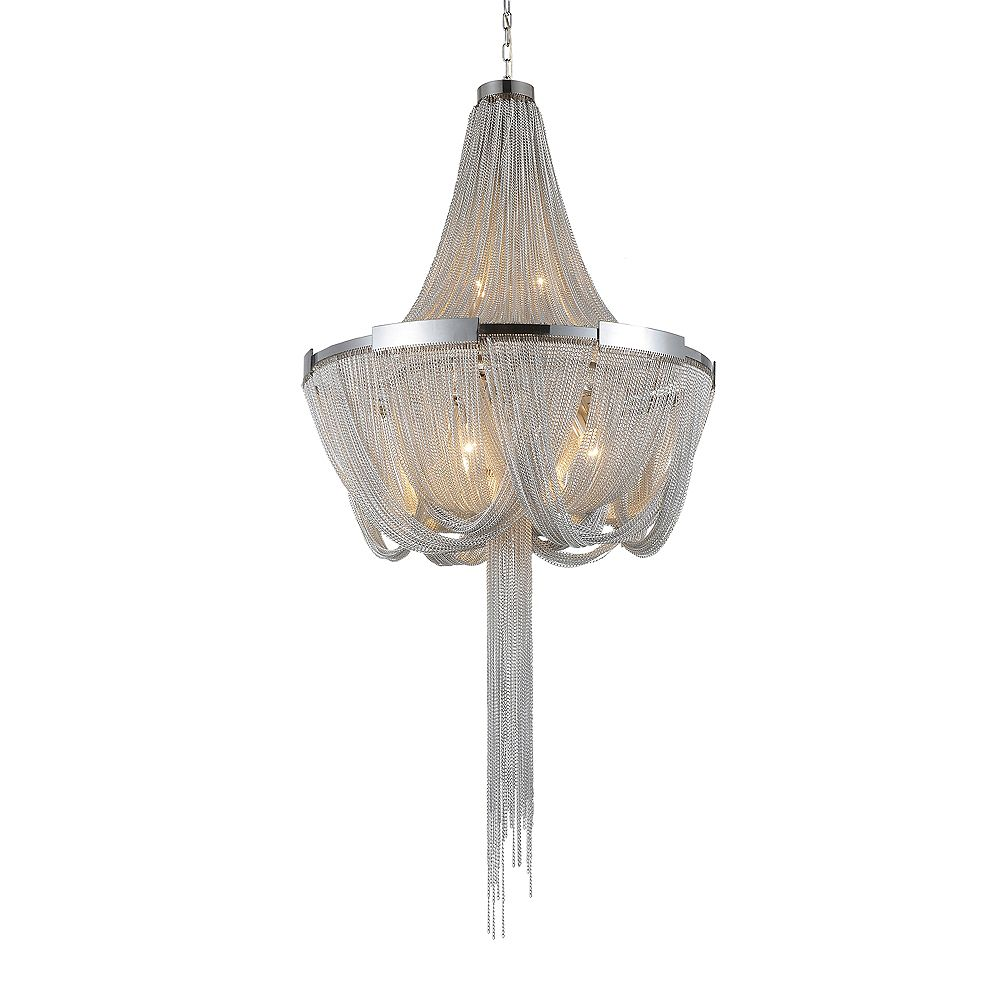 CWI Lighting Enchanted 20 inch 6 Light Chandelier with Chrome Finish
