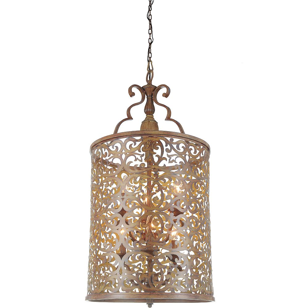 CWI Lighting Nicole 18 inch 6 Light Chandelier with Brushed Chocolate Finish