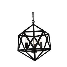 Amazon 17-inch 3-Light Chandelier Light Fixture in Black