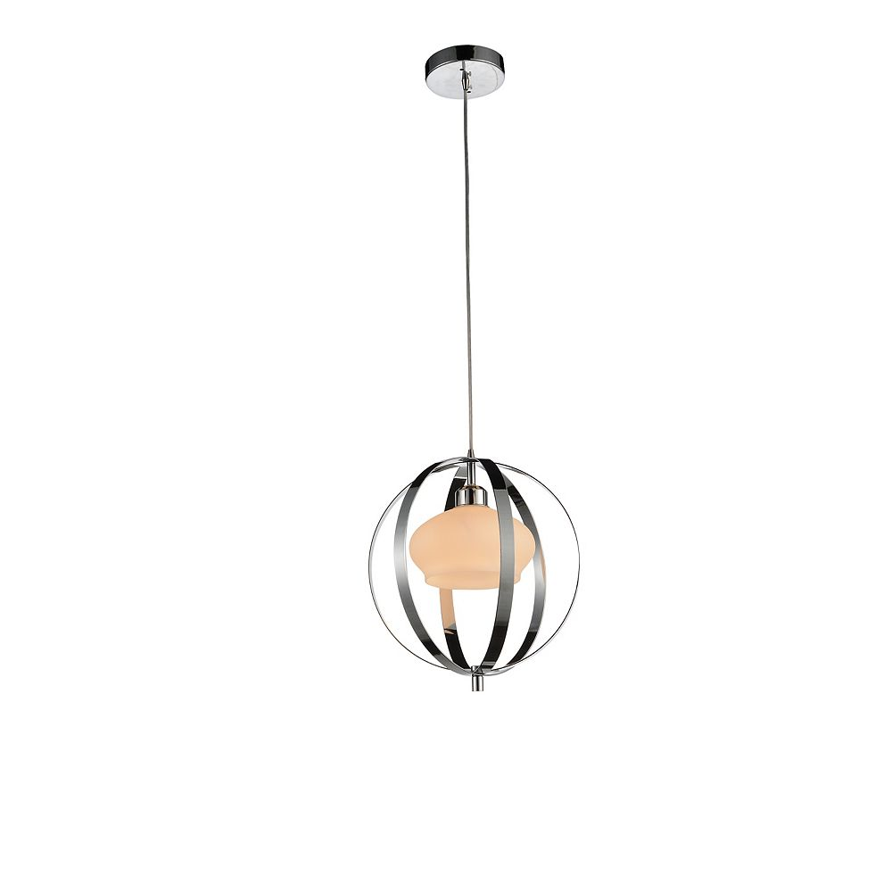 CWI Lighting Dahlia 12 inch Single Light Mini Pendant with Chrome Finish