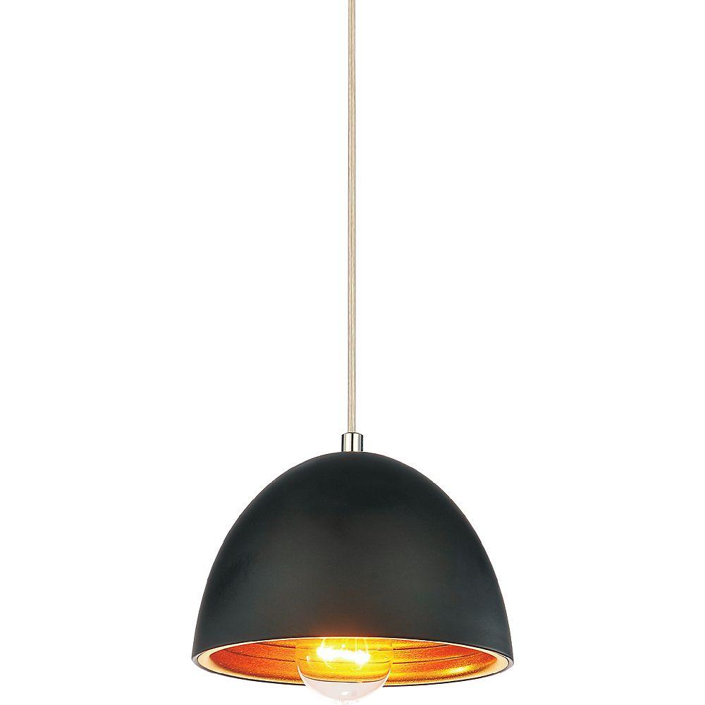 CWI Lighting Modest 7 inch 1 Light Mini Pendant with Black Finish