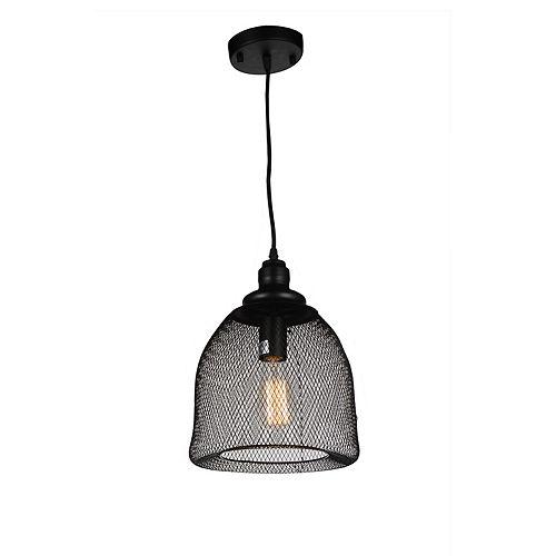 CWI Lighting Drea 7 inch Single Light Mini Pendant with Black Finish