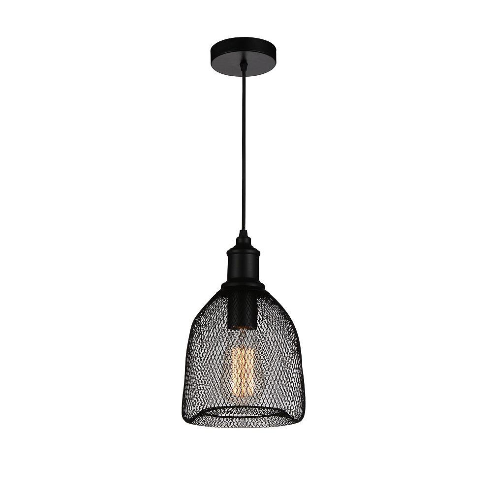 CWI Lighting Drea 7 inch 1 Light Mini Pendant with Black Finish