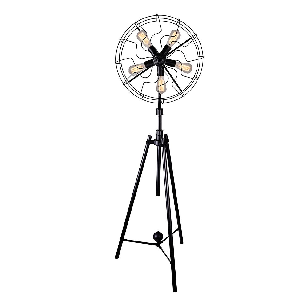 CWI Lighting Pamela 20 inch 5 Light Floor Lamp with Black Finish
