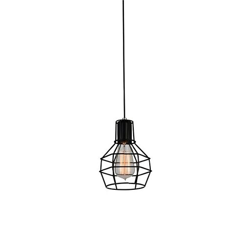 CWI Lighting Secure 6 inch 1 Light Mini Pendant with Black Finish