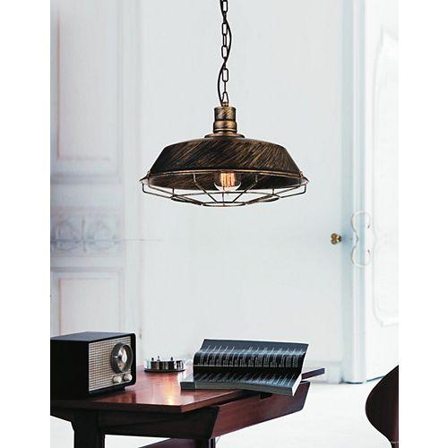 """CWI 11"""" Morgan 1 Lumière Mini Pendentif avec Fini Cuivre antique"""