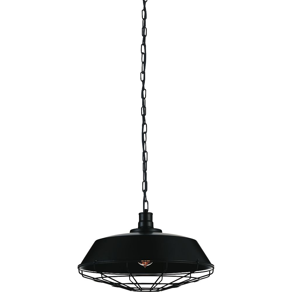 CWI Lighting Morgan 18-inch 1-Light Chandelier with Black Finish