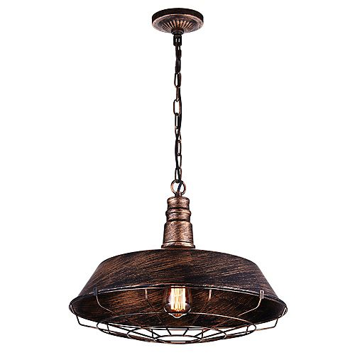 Morgan 18-inch 1-Light Chandelier with Antique Copper Finish