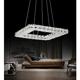 Ring 15 inch LED Chandelier with Chrome Finish