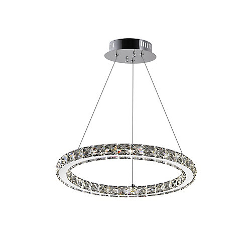 Ring 16 inches LED Chandelier with Chrome Finish