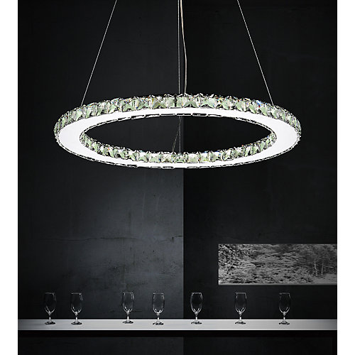 Ring 24 inch LED Chandelier with Chrome Finish