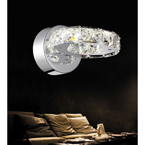 "CWI 8"" Ring LED Applique murale avec Fini chromé"