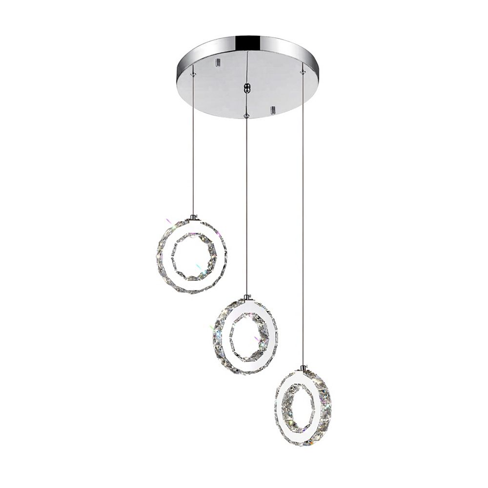CWI Lighting Ring 16 inch LED Chandelier with Chrome Finish
