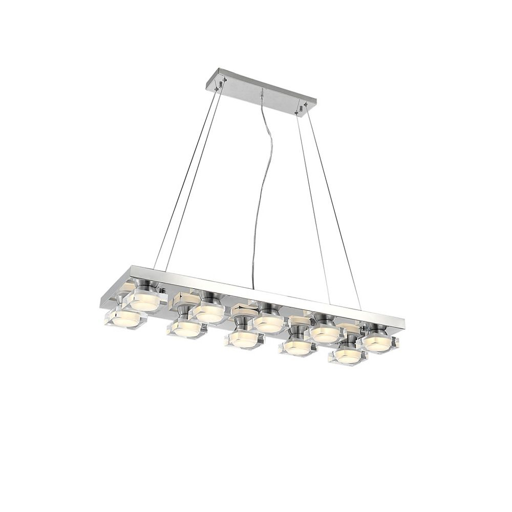 CWI Lighting Paulina 32-inch LED Chandelier with Chrome Finish