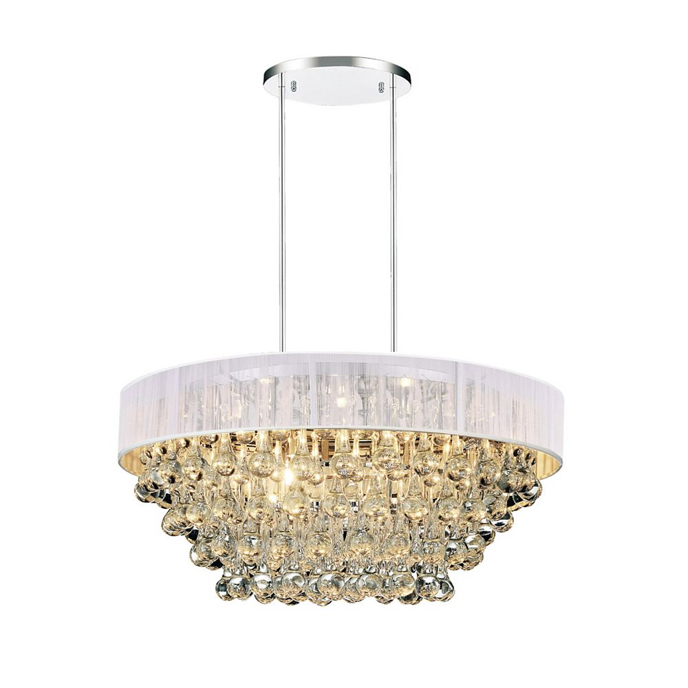 CWI Lighting Atlantic 22 inch 8 Light Chandelier with Chrome Finish