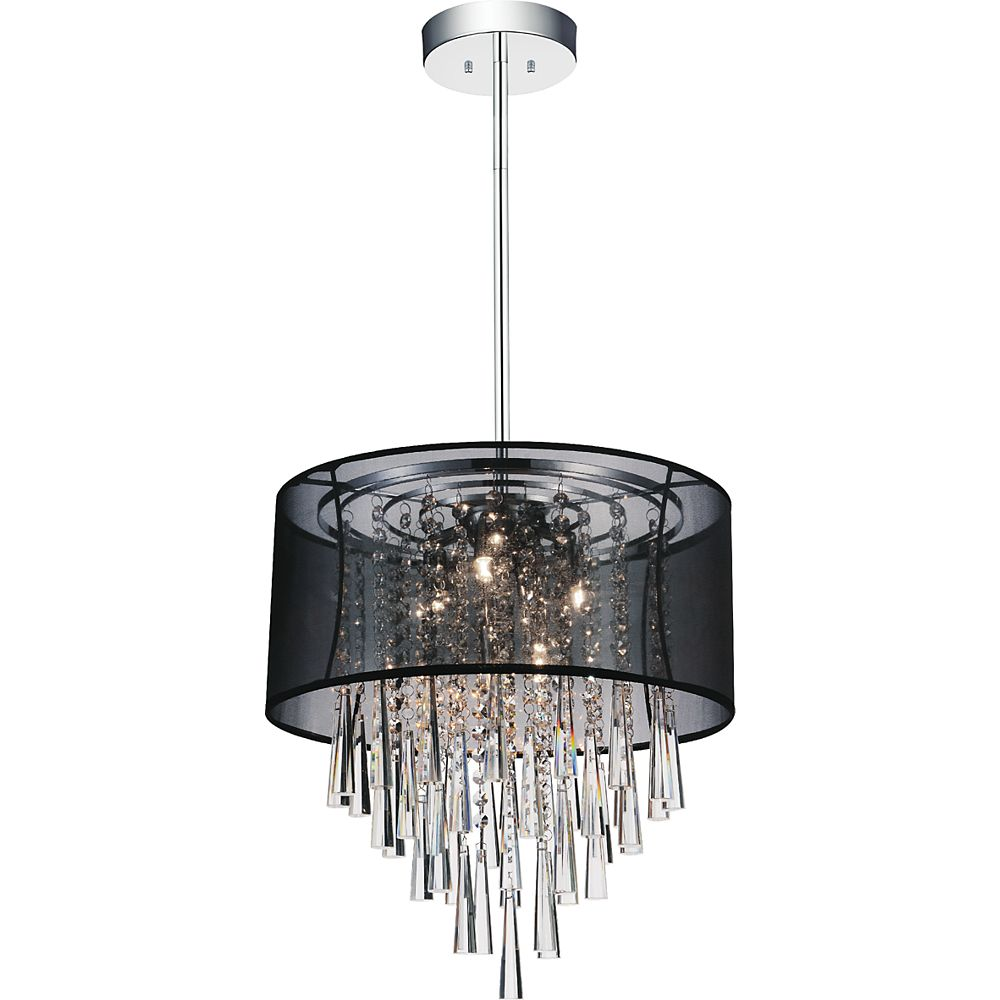 CWI Lighting Renee 17 inches Six Light Chandelier with Chrome Finish