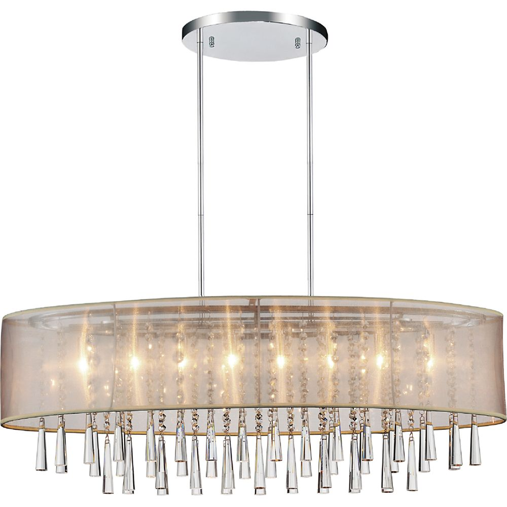 CWI Lighting Renee 36-inch 8 Light Chandelier with Chrome Finish