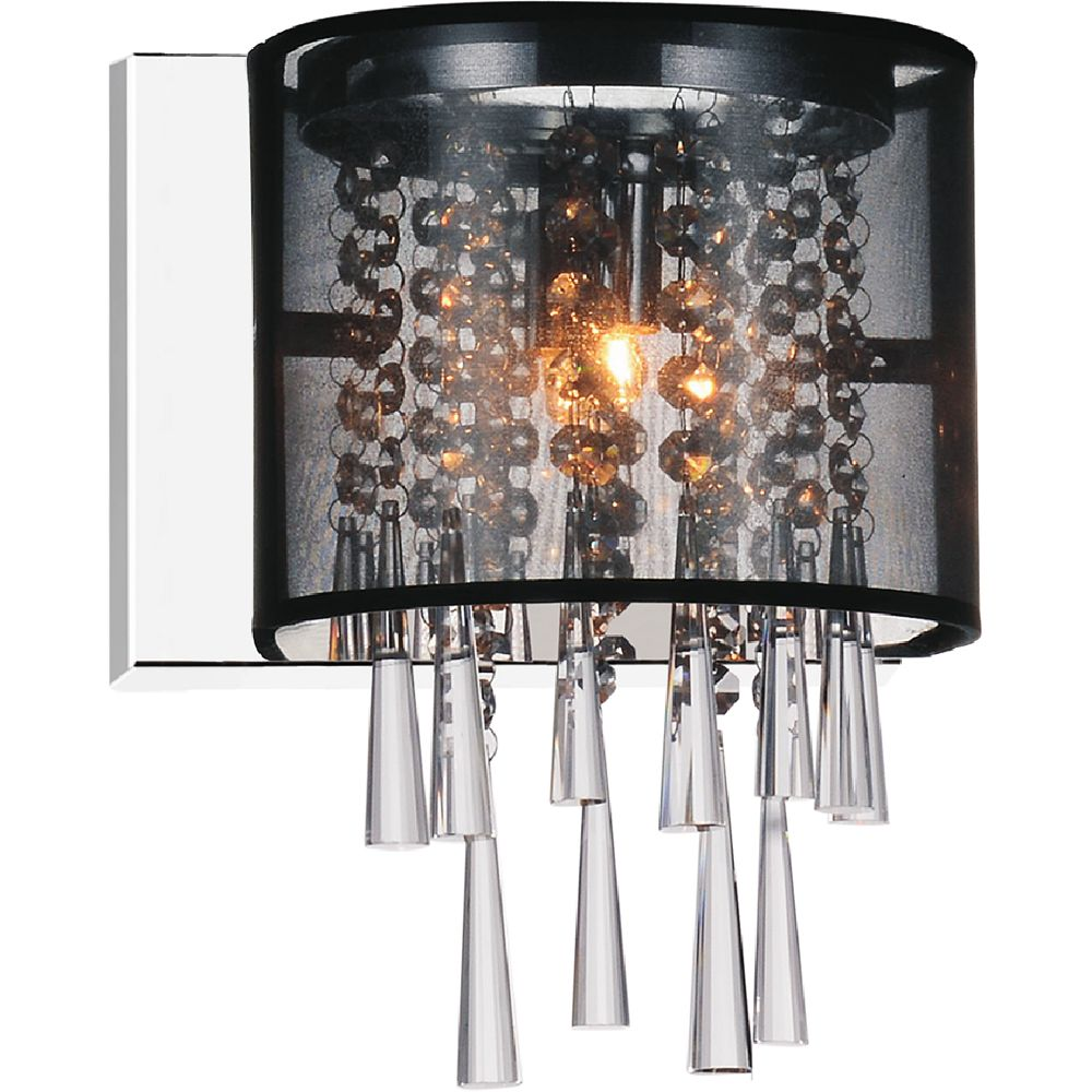 CWI Lighting Renee 5-inch 1 Light Wall Sconce with Chrome Finish