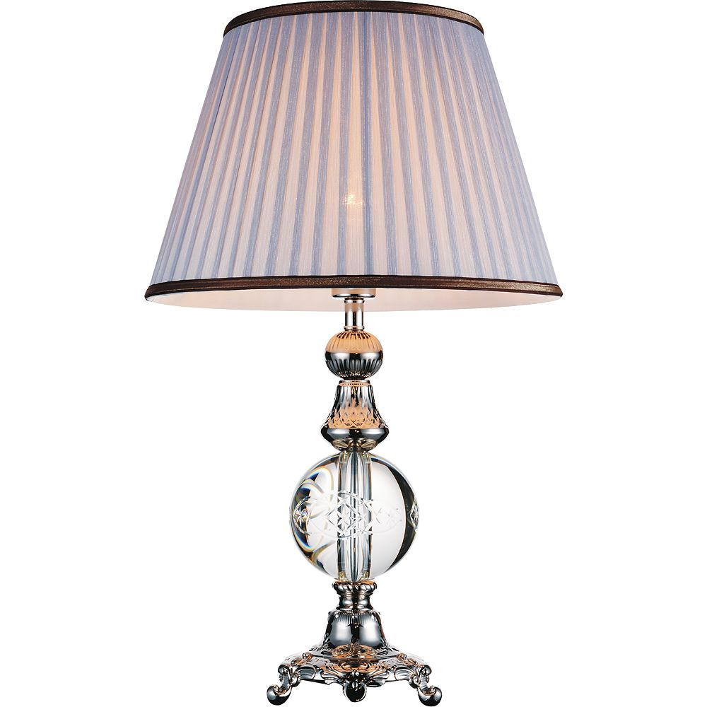 CWI Lighting Yale 16 inch 1 Light Table Lamp with Brushed Nickel Finish
