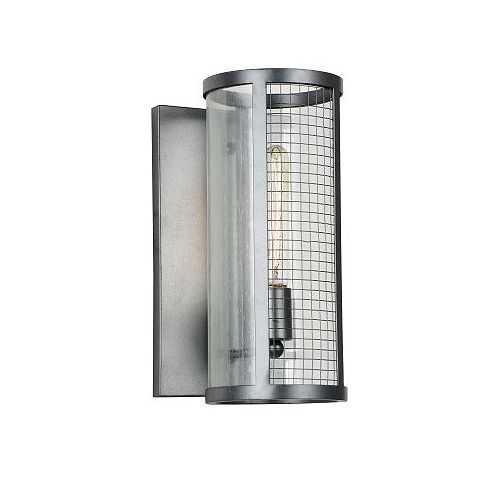 Quinn 8 inch 1 Light Wall Sconce with Gray Finish