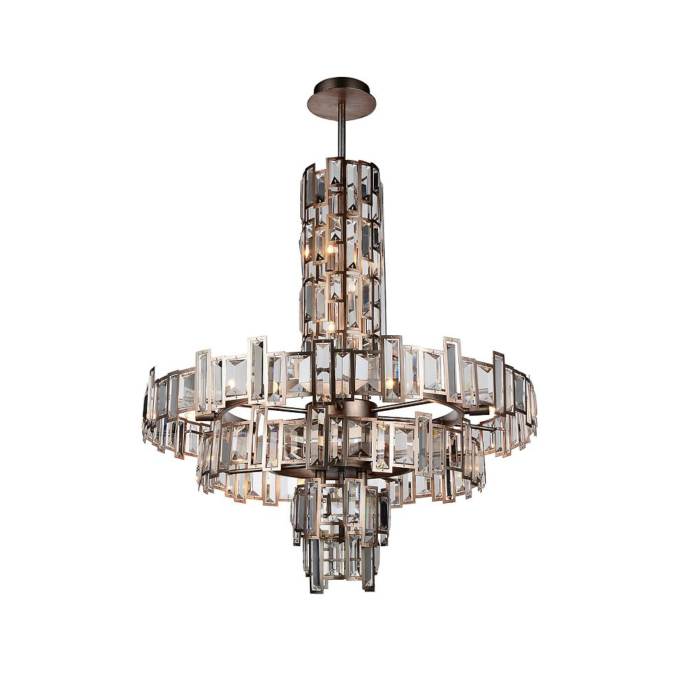 CWI Lighting Quida 30 inch 18 Light Chandelier with Champagne Finish