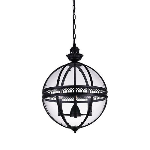 CWI Lighting Lune 12 inch 3 Light Mini Pendant with Black Finish