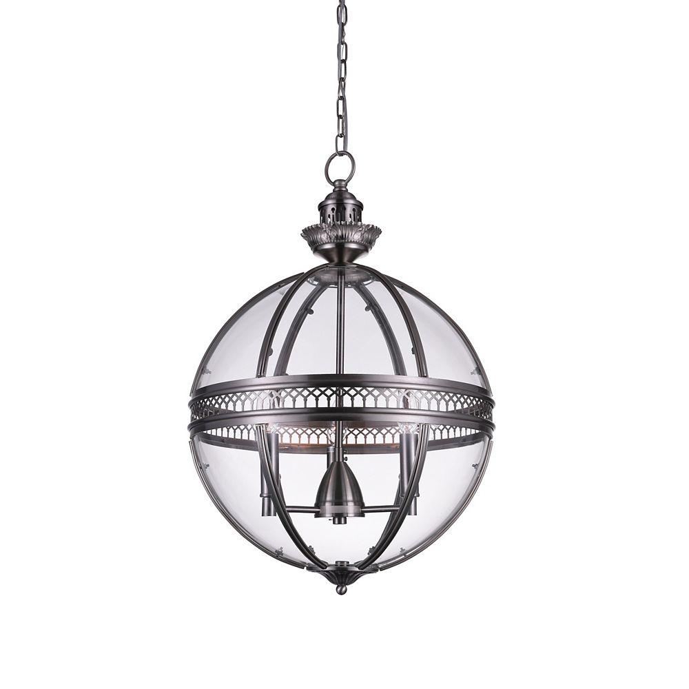 CWI Lighting Lune 12 inch 3 Light Mini Pendant with Satin Nickel Finish