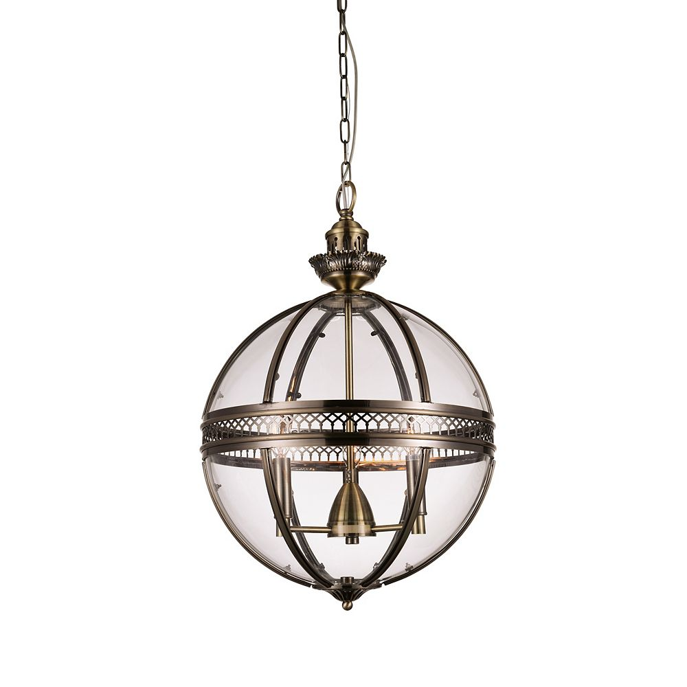 CWI Lighting Lune 12 inch 3 Light Mini Pendant with Bronze Finish
