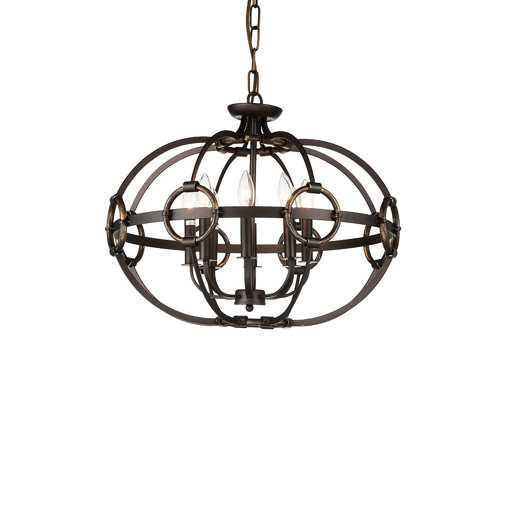 CWI Lighting Vernal 23 inch 8 Light Chandelier with Brushed Golden Brown Finish