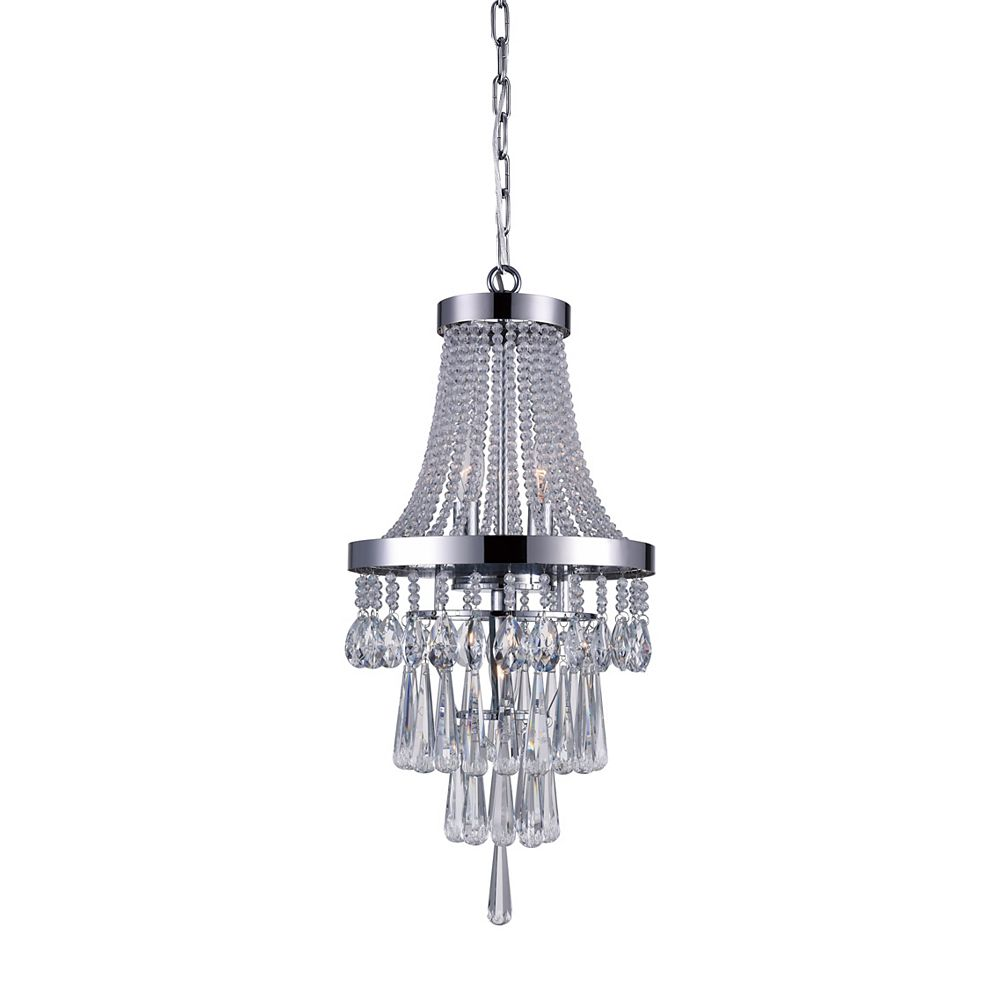 CWI Lighting Vast 12 inch 3 Light Chandelier with Chrome Finish