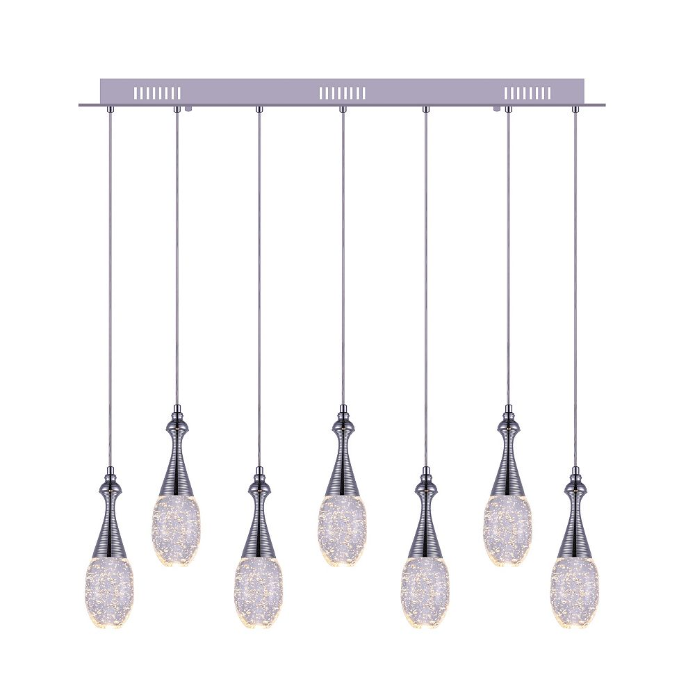 CWI Lighting Dior 36 inch 7 Light Chandelier with Chrome Finish