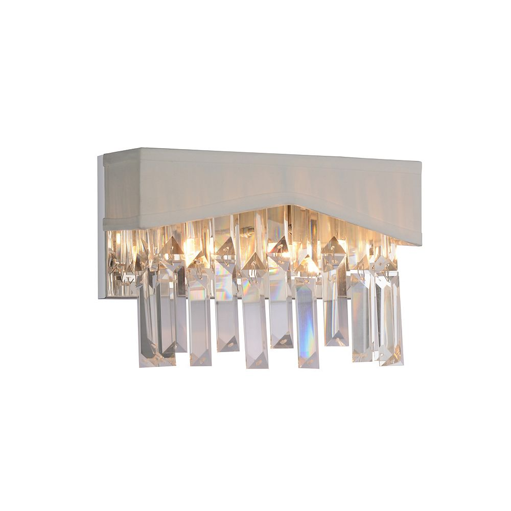 CWI Lighting Havely 10 inch 2 Light Wall Sconce with Chrome Finish