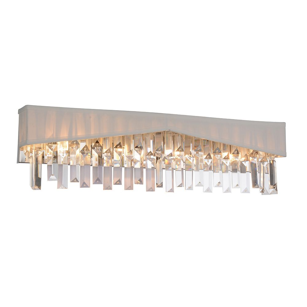 CWI Lighting Havely 24 inch 4 Light Wall Sconce with Chrome Finish