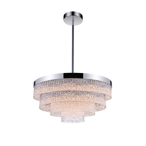 CWI Lighting Carlotta 25 inch 9 Light Chandelier with Chrome Finish