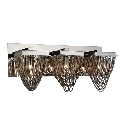 CWI Lighting Isla 21 inch 3 Light Wall Sconce with Chrome Finish