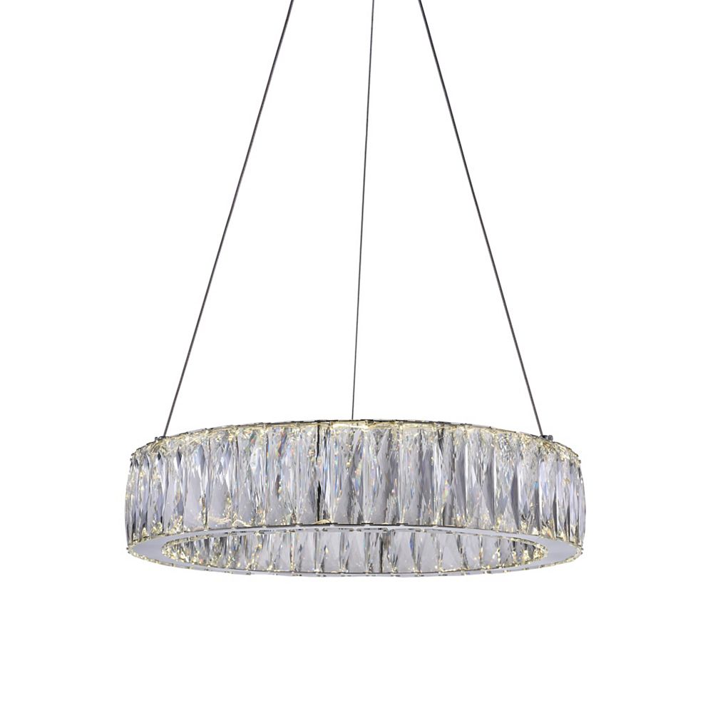CWI Lighting Juno 20-inch LED Chandelier with Chrome Finish