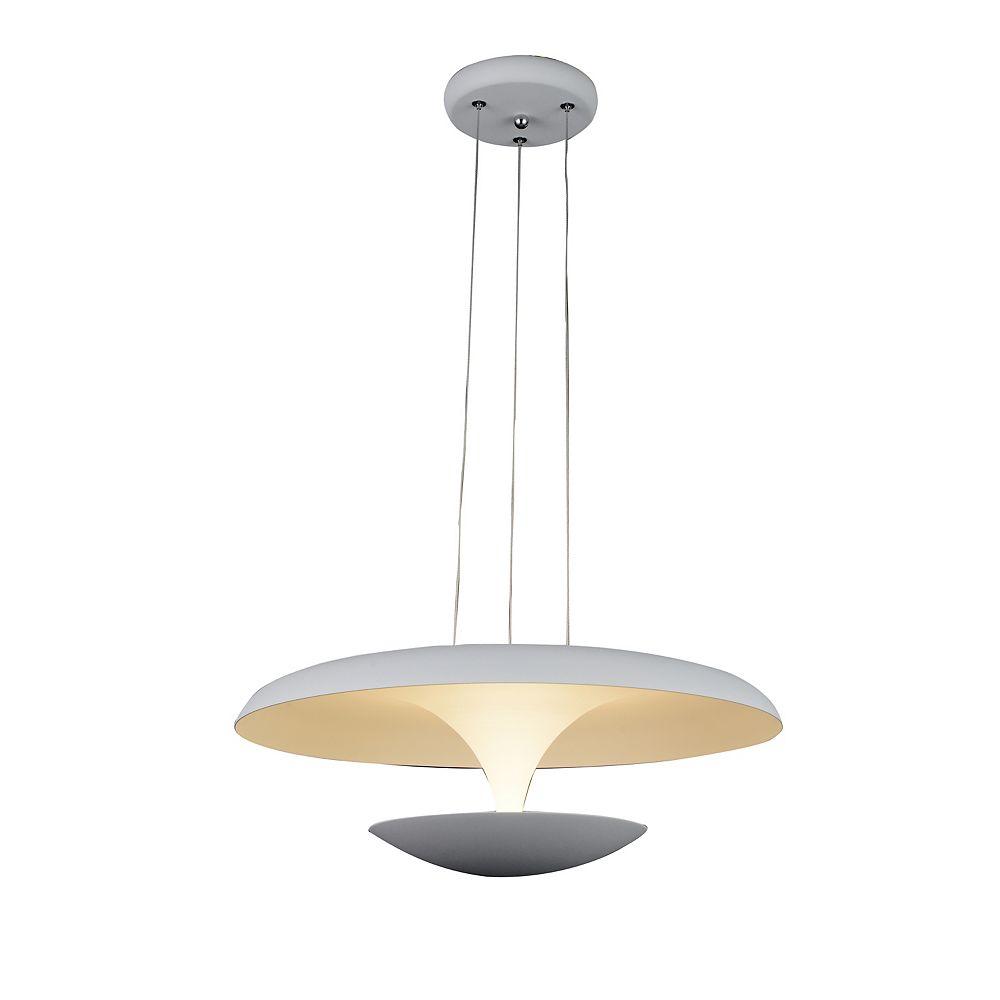 CWI Lighting Aviva 16 inch LED Chandelier with White Finish