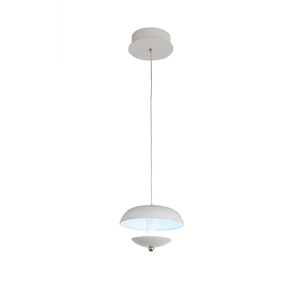 CWI Lighting Aviva 5 inch LED Pendant with White Finish