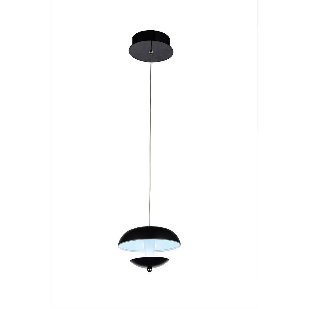 CWI Lighting Aviva 5 inch LED Pendant with Bright Nickel Finish