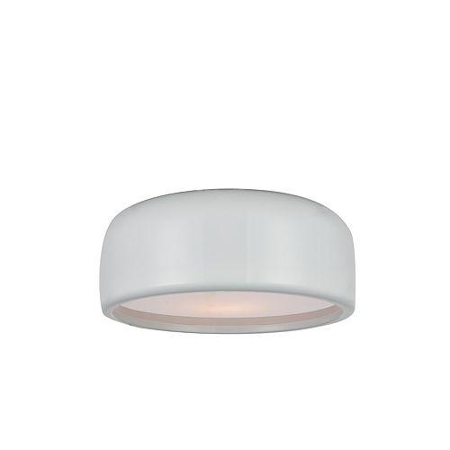 """CWI 14"""" Campton 2 Lumière Plafonnier avec Fini blanc"""