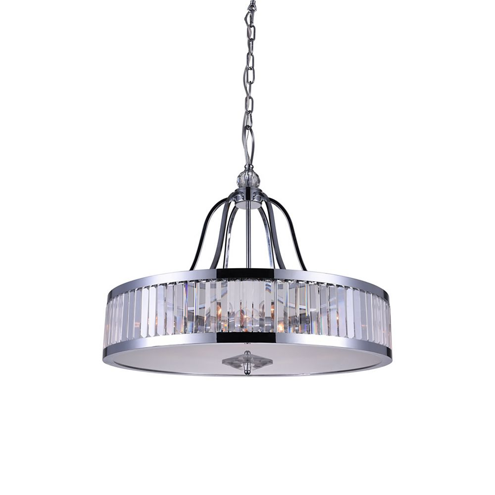 CWI Lighting Belvoir 26 inch 6 Light Chandelier with Chrome Finish