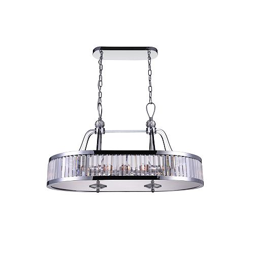 CWI Lighting Belvoir 34 inch 10 Light Chandelier with Chrome Finish