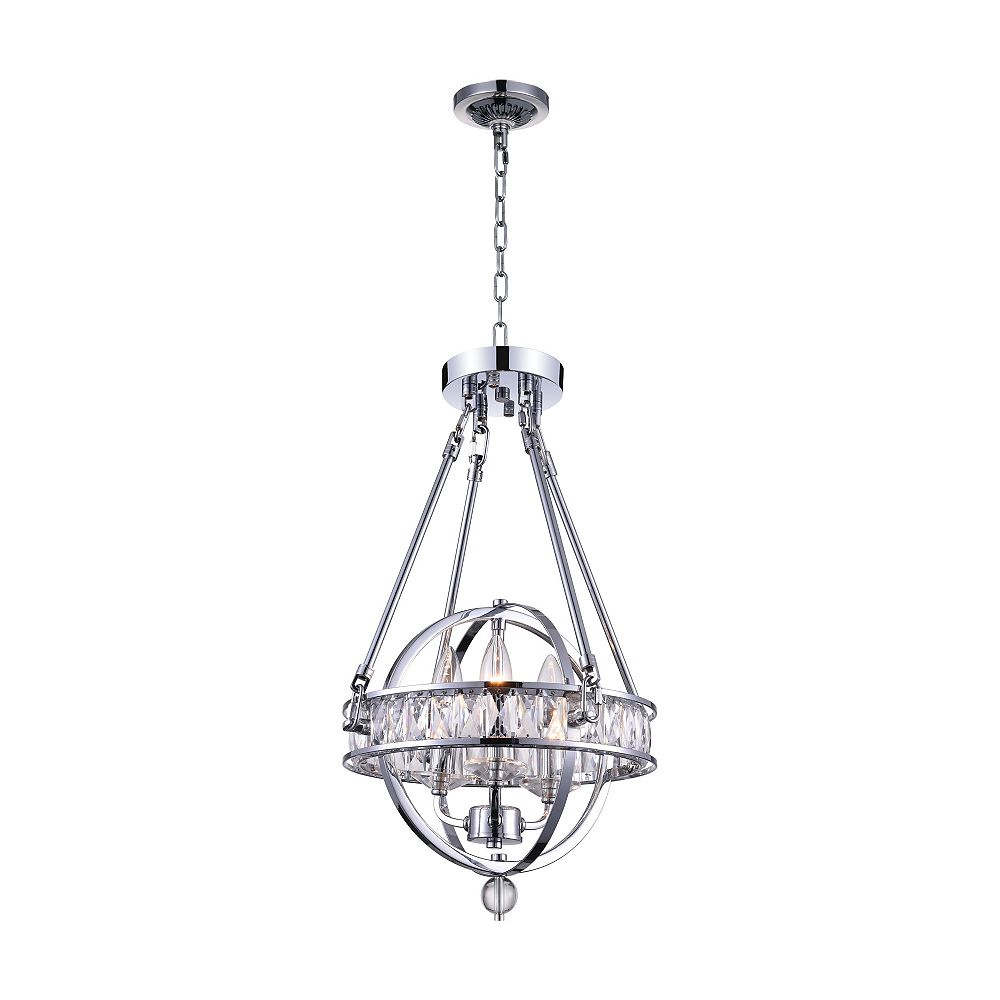 CWI Lighting Arkansas 12 inch 3 Light Chandelier with Chrome Finish