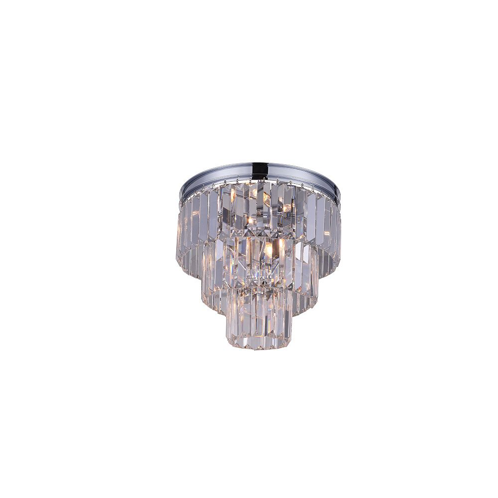 CWI Lighting Weiss 12 inch 8 Light Flush Mount with Chrome Finish