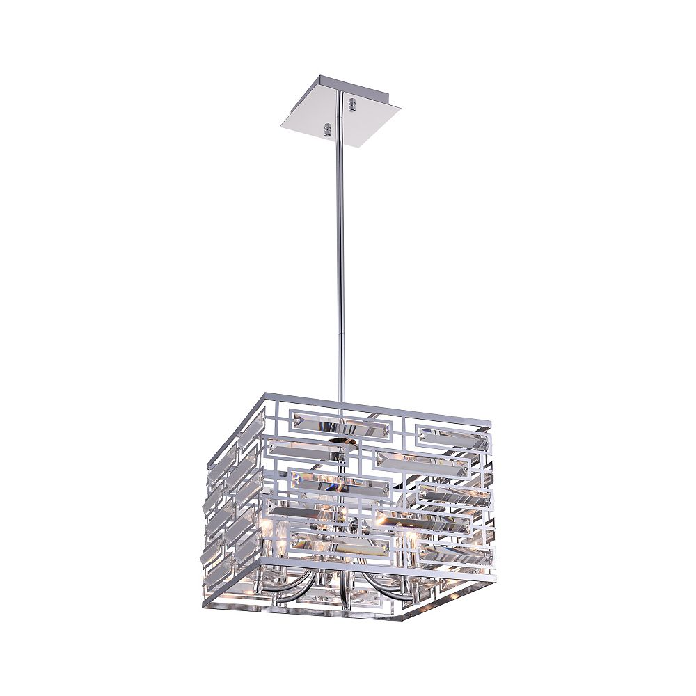 CWI Lighting Petia 15 inch 6 Light Chandelier with Chrome Finish