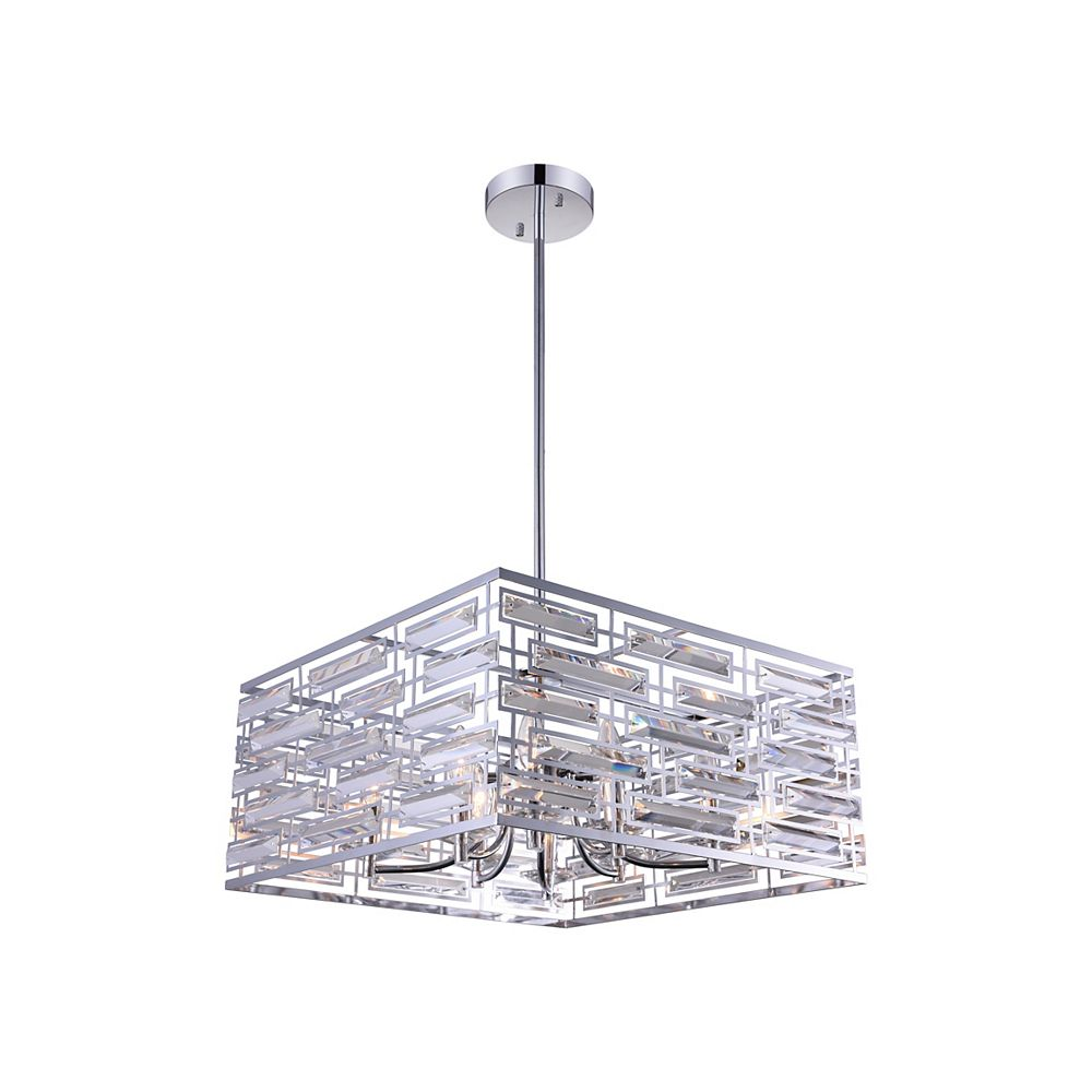 CWI Lighting Petia 21 inch 8 Light Chandelier with Chrome Finish