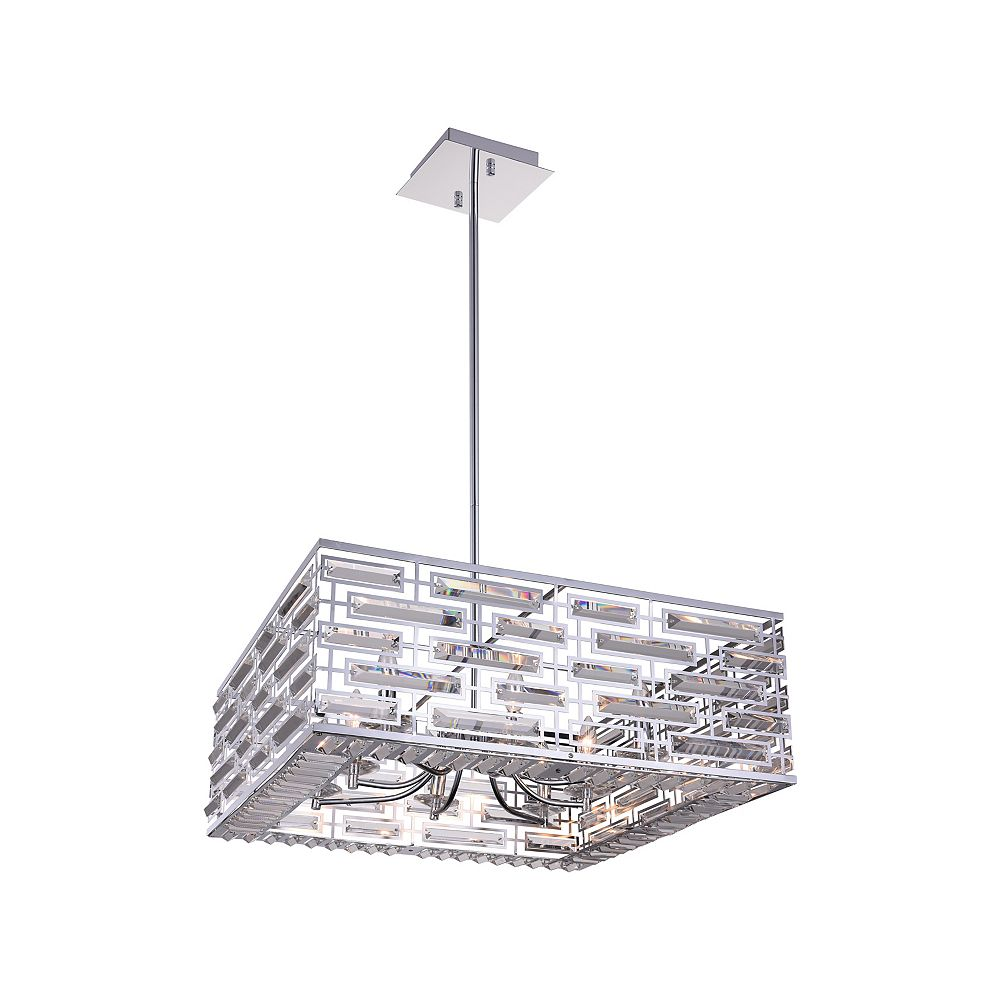 CWI Lighting Petia 28 inch 8 Light Chandelier with Chrome Finish